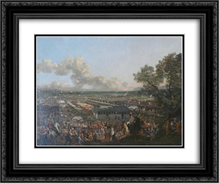 The Election of the King Stanislaus Augustus 24x20 Black or Gold Ornate Framed and Double Matted Art Print by Bernardo Bellotto