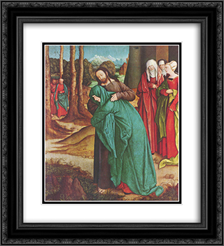 Christ Taking Leave of His Mother 20x22 Black or Gold Ornate Framed and Double Matted Art Print by Bernhard Strigel