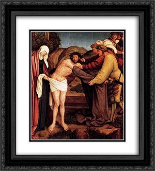 Disrobing of Christ 20x22 Black or Gold Ornate Framed and Double Matted Art Print by Bernhard Strigel