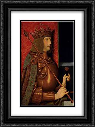 Emperor Maximilian I (1459-1519) 18x24 Black or Gold Ornate Framed and Double Matted Art Print by Bernhard Strigel