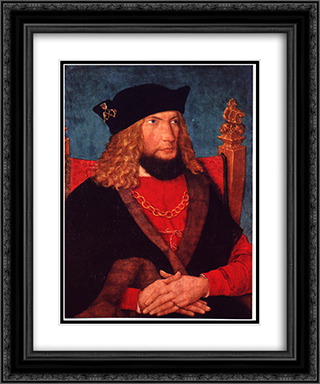 Hans Caspar von Laubberg 20x24 Black or Gold Ornate Framed and Double Matted Art Print by Bernhard Strigel