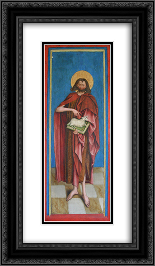 John the Baptist 14x24 Black or Gold Ornate Framed and Double Matted Art Print by Bernhard Strigel
