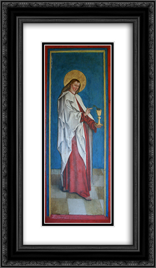John the Evangelist 14x24 Black or Gold Ornate Framed and Double Matted Art Print by Bernhard Strigel