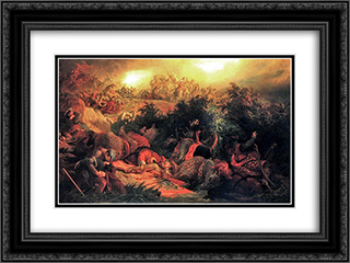 The Battle of Mohacs (1526) 24x18 Black or Gold Ornate Framed and Double Matted Art Print by Bertalan Szekely