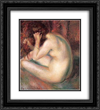 Back of nude 20x22 Black or Gold Ornate Framed and Double Matted Art Print by William James Glackens