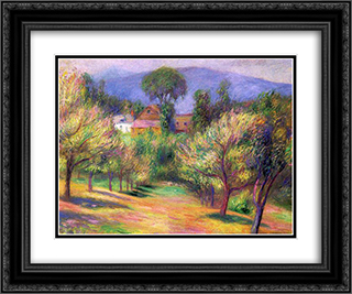 Connecticut landscape 24x20 Black or Gold Ornate Framed and Double Matted Art Print by William James Glackens
