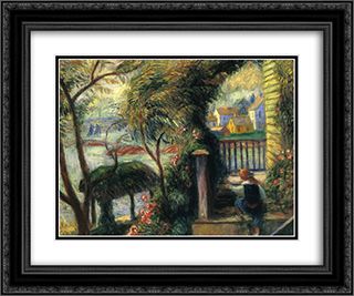 East Point, Gloucester 24x20 Black or Gold Ornate Framed and Double Matted Art Print by William James Glackens