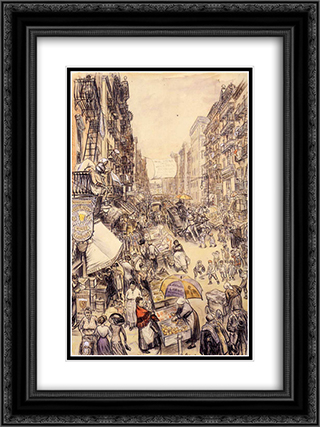 Far from the Fresh Farm Air 18x24 Black or Gold Ornate Framed and Double Matted Art Print by William James Glackens