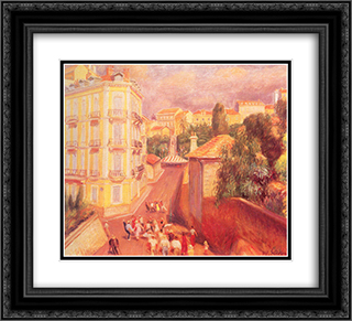 Fete de Suquet 22x20 Black or Gold Ornate Framed and Double Matted Art Print by William James Glackens