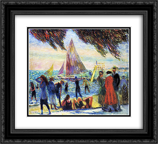 From Under Willows 22x20 Black or Gold Ornate Framed and Double Matted Art Print by William James Glackens