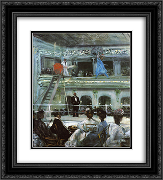 Hammerstein's Roof Garden 20x22 Black or Gold Ornate Framed and Double Matted Art Print by William James Glackens