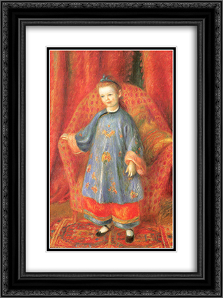 Lenna, the Artist's Daughter, in a Chinese Costume 18x24 Black or Gold Ornate Framed and Double Matted Art Print by William James Glackens