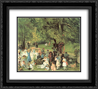 May Day in Central Park 22x20 Black or Gold Ornate Framed and Double Matted Art Print by William James Glackens