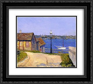 New Castle, New Hampshire 22x20 Black or Gold Ornate Framed and Double Matted Art Print by William James Glackens