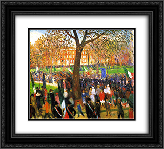 Parade 22x20 Black or Gold Ornate Framed and Double Matted Art Print by William James Glackens
