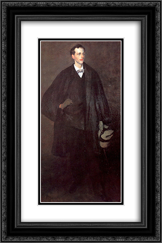 Portrait Of Charles Fitzgerald 16x24 Black or Gold Ornate Framed and Double Matted Art Print by William James Glackens