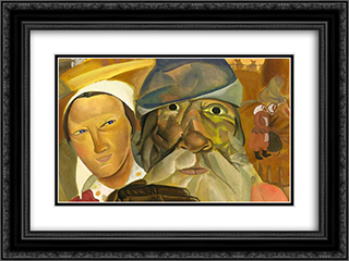 Faces of Russia 24x18 Black or Gold Ornate Framed and Double Matted Art Print by Boris Grigoriev