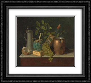 Just Dessert 22x20 Black or Gold Ornate Framed and Double Matted Art Print by William Michael Harnett