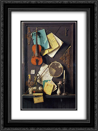 The Old Cupboard Door 18x24 Black or Gold Ornate Framed and Double Matted Art Print by William Michael Harnett