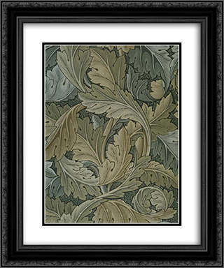 Acanthus wallpaper 20x24 Black or Gold Ornate Framed and Double Matted Art Print by William Morris