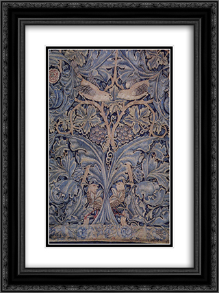 Cabbage and vine tapestry 18x24 Black or Gold Ornate Framed and Double Matted Art Print by William Morris
