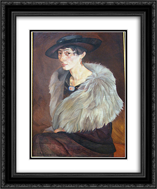Portrait of Anna Grilikhes 20x24 Black or Gold Ornate Framed and Double Matted Art Print by Boris Grigoriev