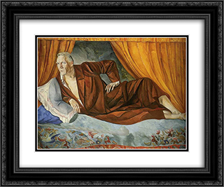 Portrait of Feodor Chaliapin 24x20 Black or Gold Ornate Framed and Double Matted Art Print by Boris Grigoriev