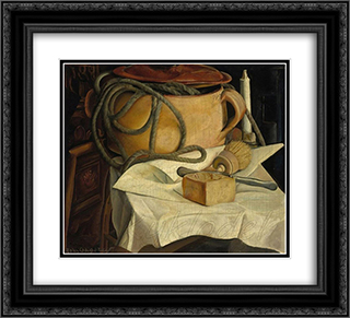 Still life 22x20 Black or Gold Ornate Framed and Double Matted Art Print by Boris Grigoriev