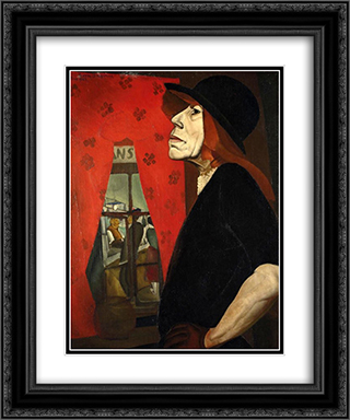 The Harlot of Marseilles 20x24 Black or Gold Ornate Framed and Double Matted Art Print by Boris Grigoriev