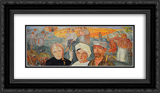 The People's Land 24x14 Black or Gold Ornate Framed and Double Matted Art Print by Boris Grigoriev