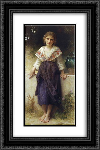 A moment of rest 16x24 Black or Gold Ornate Framed and Double Matted Art Print by William Adolphe Bouguereau
