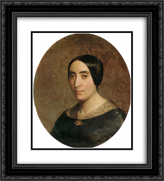 A Portrait of Amelina Dufaud 20x22 Black or Gold Ornate Framed and Double Matted Art Print by William Adolphe Bouguereau