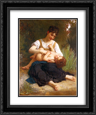 Adolphus Child And Teen 20x24 Black or Gold Ornate Framed and Double Matted Art Print by William Adolphe Bouguereau
