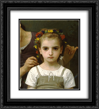 Adornment fields 20x22 Black or Gold Ornate Framed and Double Matted Art Print by William Adolphe Bouguereau