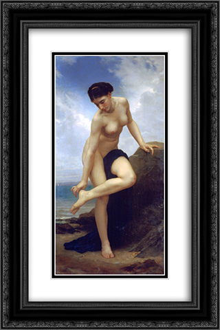 After the Bath 16x24 Black or Gold Ornate Framed and Double Matted Art Print by William Adolphe Bouguereau