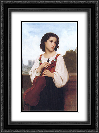 Alone in the world 18x24 Black or Gold Ornate Framed and Double Matted Art Print by William Adolphe Bouguereau