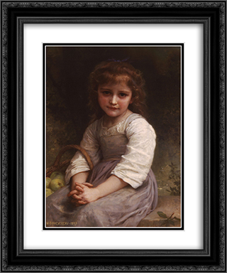 Apples 20x24 Black or Gold Ornate Framed and Double Matted Art Print by William Adolphe Bouguereau