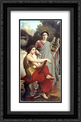 Art and Literature 16x24 Black or Gold Ornate Framed and Double Matted Art Print by William Adolphe Bouguereau