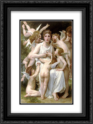 Assault 18x24 Black or Gold Ornate Framed and Double Matted Art Print by William Adolphe Bouguereau