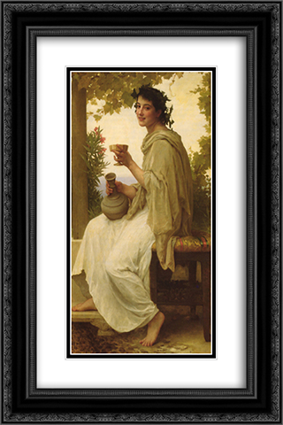 Bacchante 16x24 Black or Gold Ornate Framed and Double Matted Art Print by William Adolphe Bouguereau