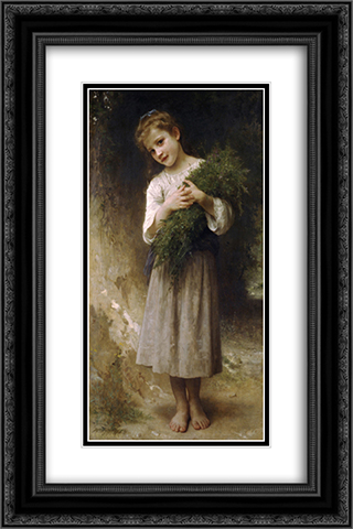 Back Fields 16x24 Black or Gold Ornate Framed and Double Matted Art Print by William Adolphe Bouguereau