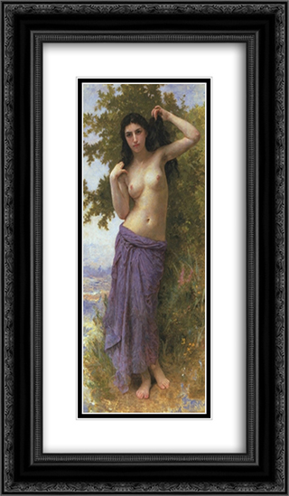 Beaut Romane 14x24 Black or Gold Ornate Framed and Double Matted Art Print by William Adolphe Bouguereau