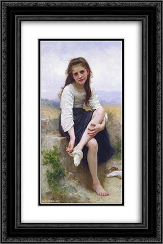 Before The Bath 16x24 Black or Gold Ornate Framed and Double Matted Art Print by William Adolphe Bouguereau