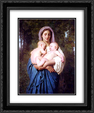 Charity 20x24 Black or Gold Ornate Framed and Double Matted Art Print by William Adolphe Bouguereau