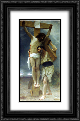 Compassion 16x24 Black or Gold Ornate Framed and Double Matted Art Print by William Adolphe Bouguereau