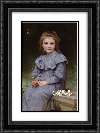 Daisies 18x24 Black or Gold Ornate Framed and Double Matted Art Print by William Adolphe Bouguereau
