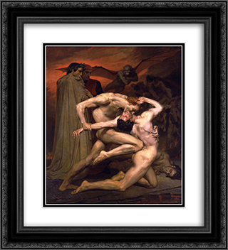 Dante and Virgil in Hell 20x22 Black or Gold Ornate Framed and Double Matted Art Print by William Adolphe Bouguereau
