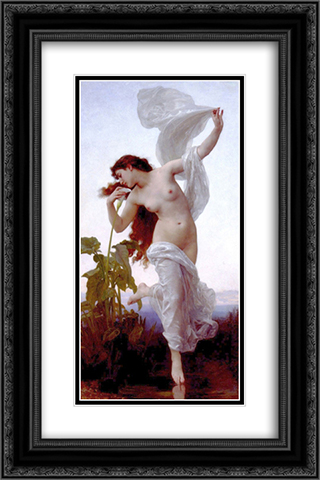 Dawn 16x24 Black or Gold Ornate Framed and Double Matted Art Print by William Adolphe Bouguereau