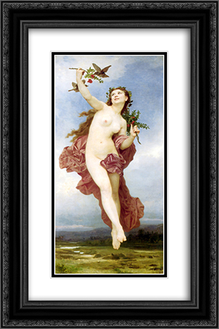 Day 16x24 Black or Gold Ornate Framed and Double Matted Art Print by William Adolphe Bouguereau
