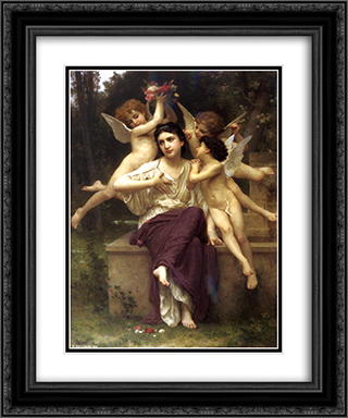 Dream of Spring 20x24 Black or Gold Ornate Framed and Double Matted Art Print by William Adolphe Bouguereau